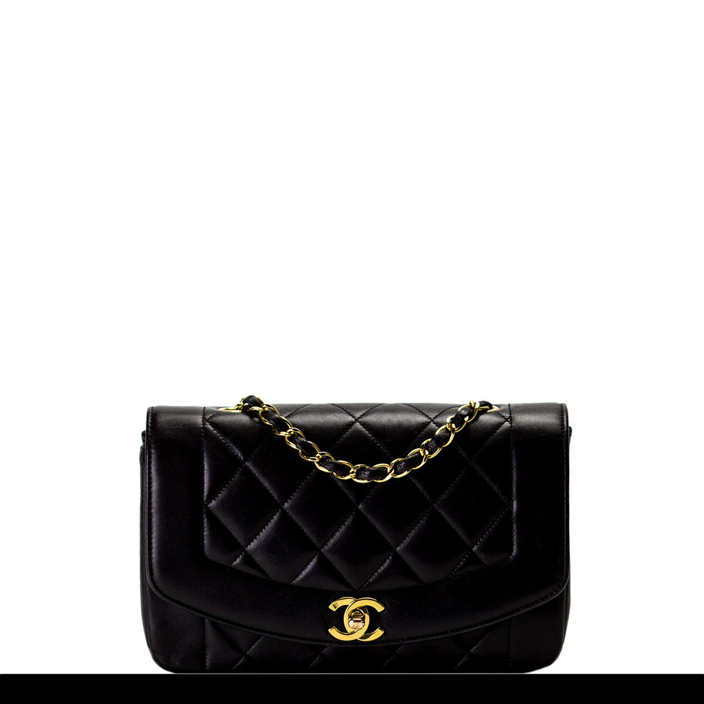 Chanel Diana Lambskin Quilted Classic Crossbody Flap