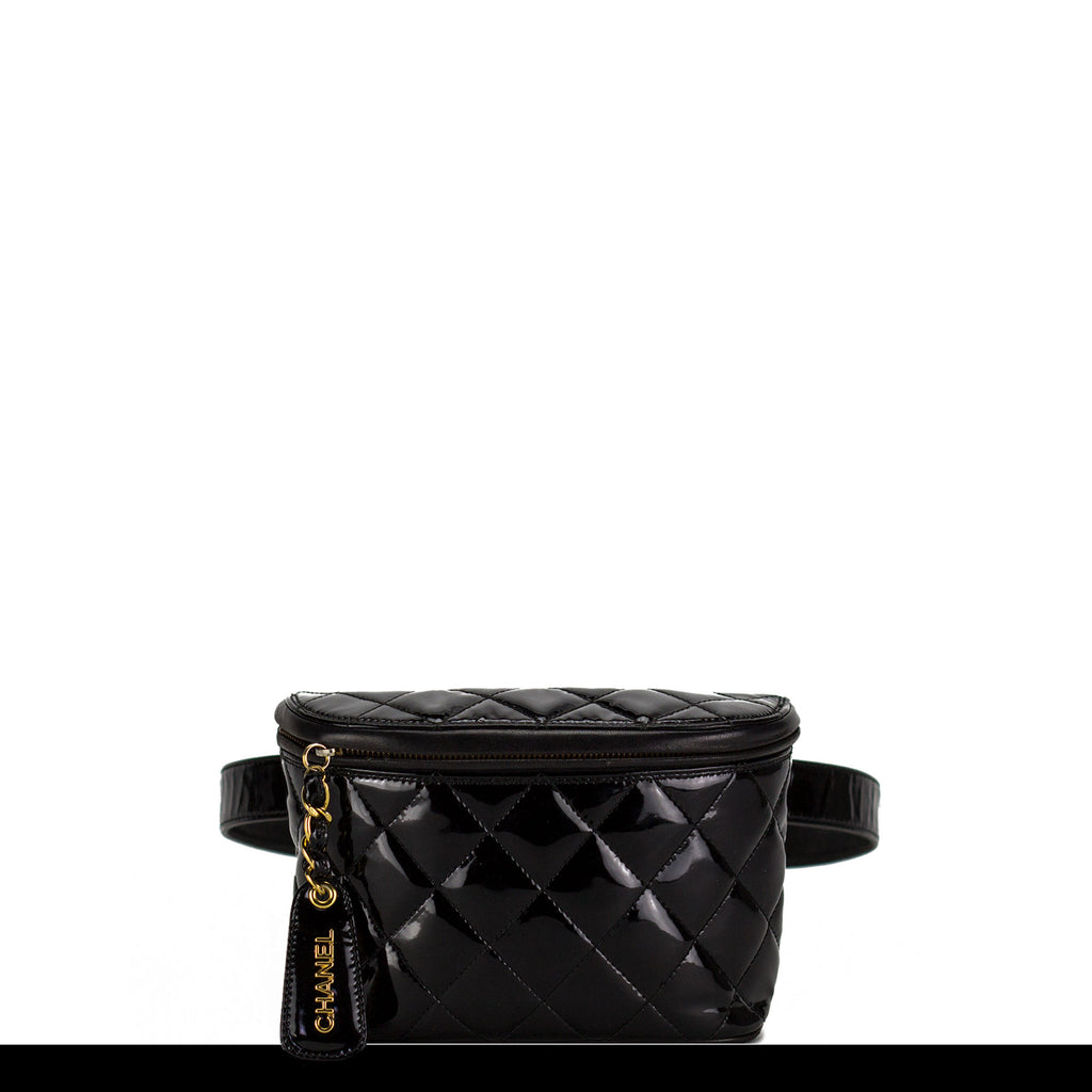 Chanel Classic Patent Quilted Fanny Pack