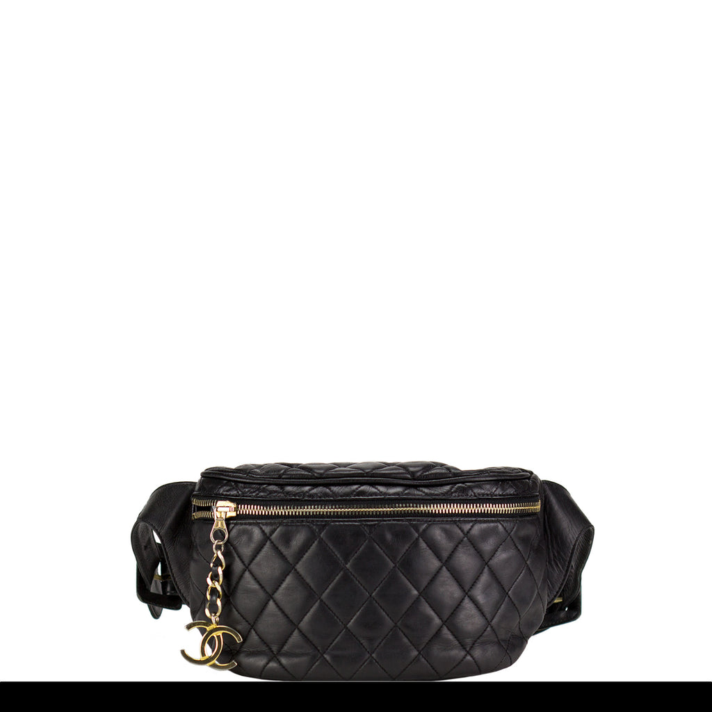 66f43dcd613d Chanel Vintage Lambskin Quilted Fanny Pack