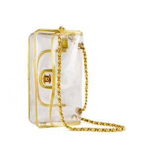 Chanel Transparent Naked Classic Gold Vintage Flap