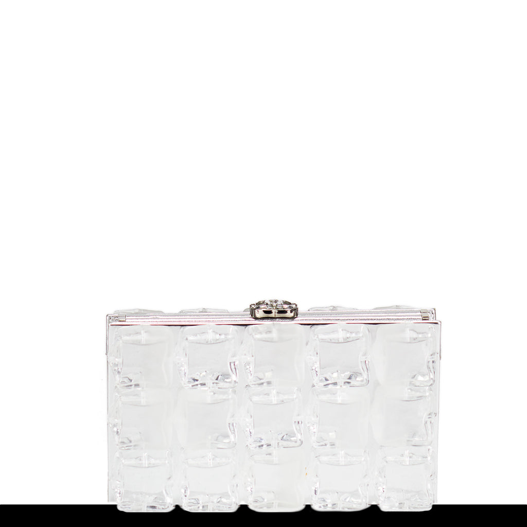 Chanel Silver Ice Cube Clutch Minaudière