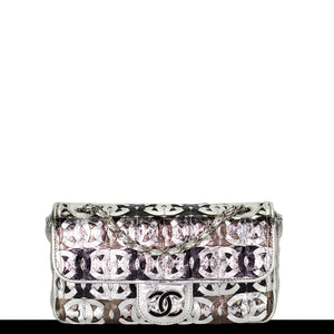 Chanel Laser Etched Metallic Classic Flap