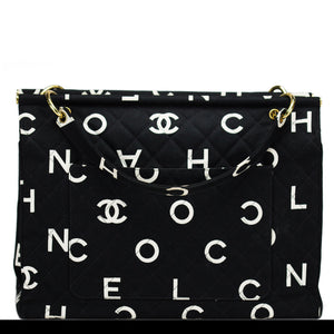 Chanel Vintage Logo Letters Rare Tote