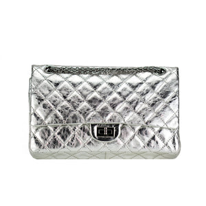 Chanel Metallic Silver Classic Double Flap