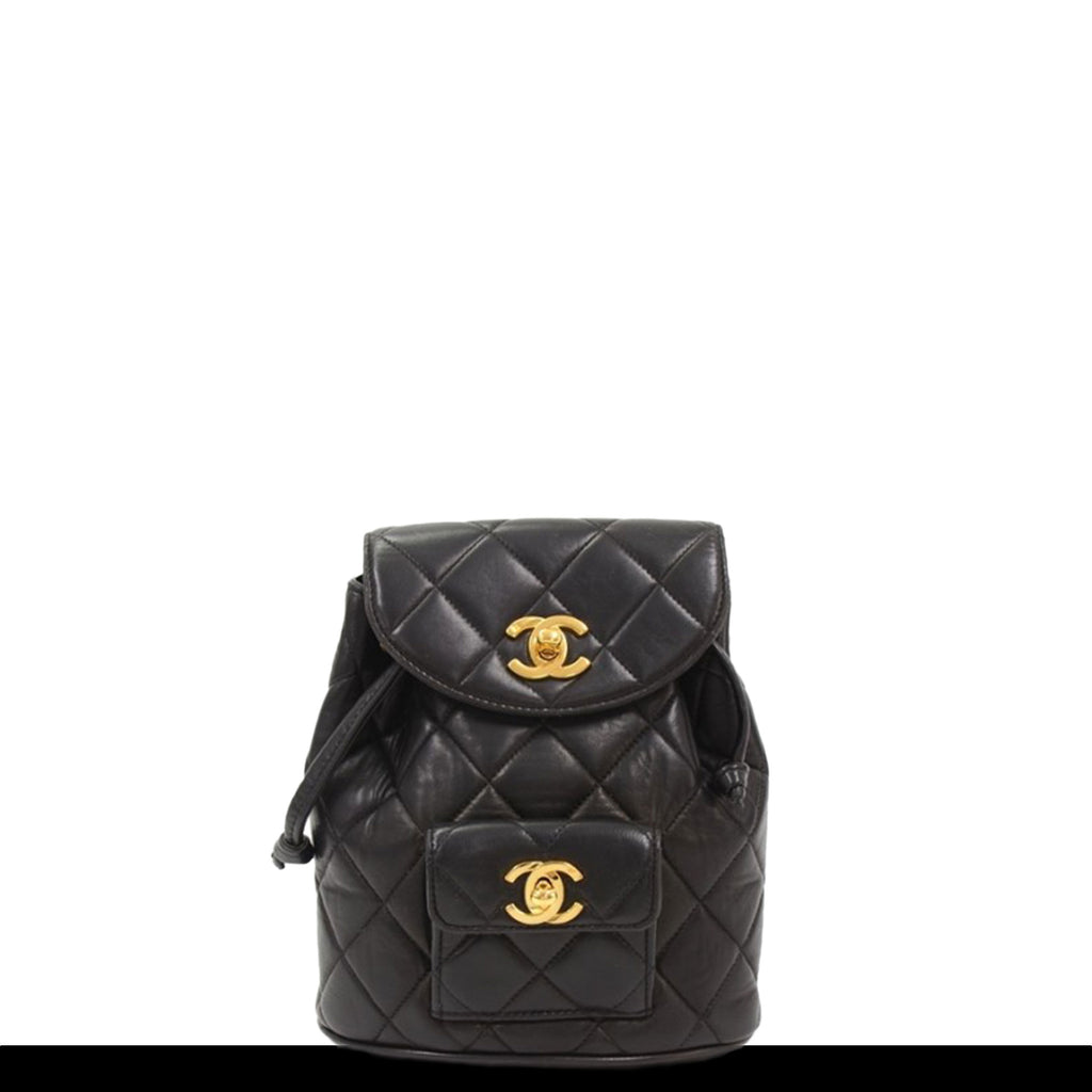Chanel Micro Mini VIntage Quilted Backpack