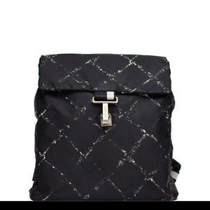 Chanel Nylon Graphic Stitched Backpack