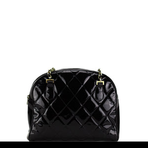Chanel Patent Round Top Vintage Tote