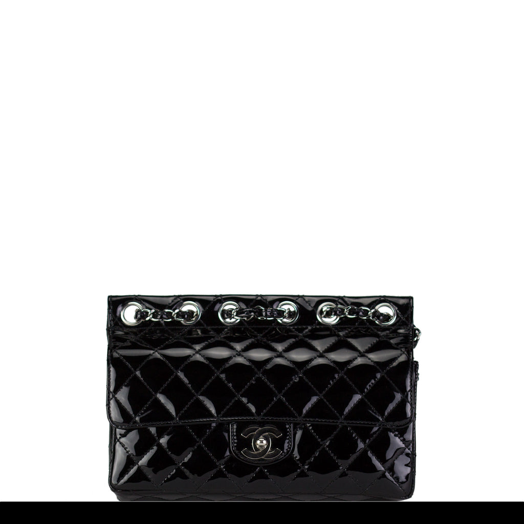 Chanel Patent Flat Top Crossbody Flap