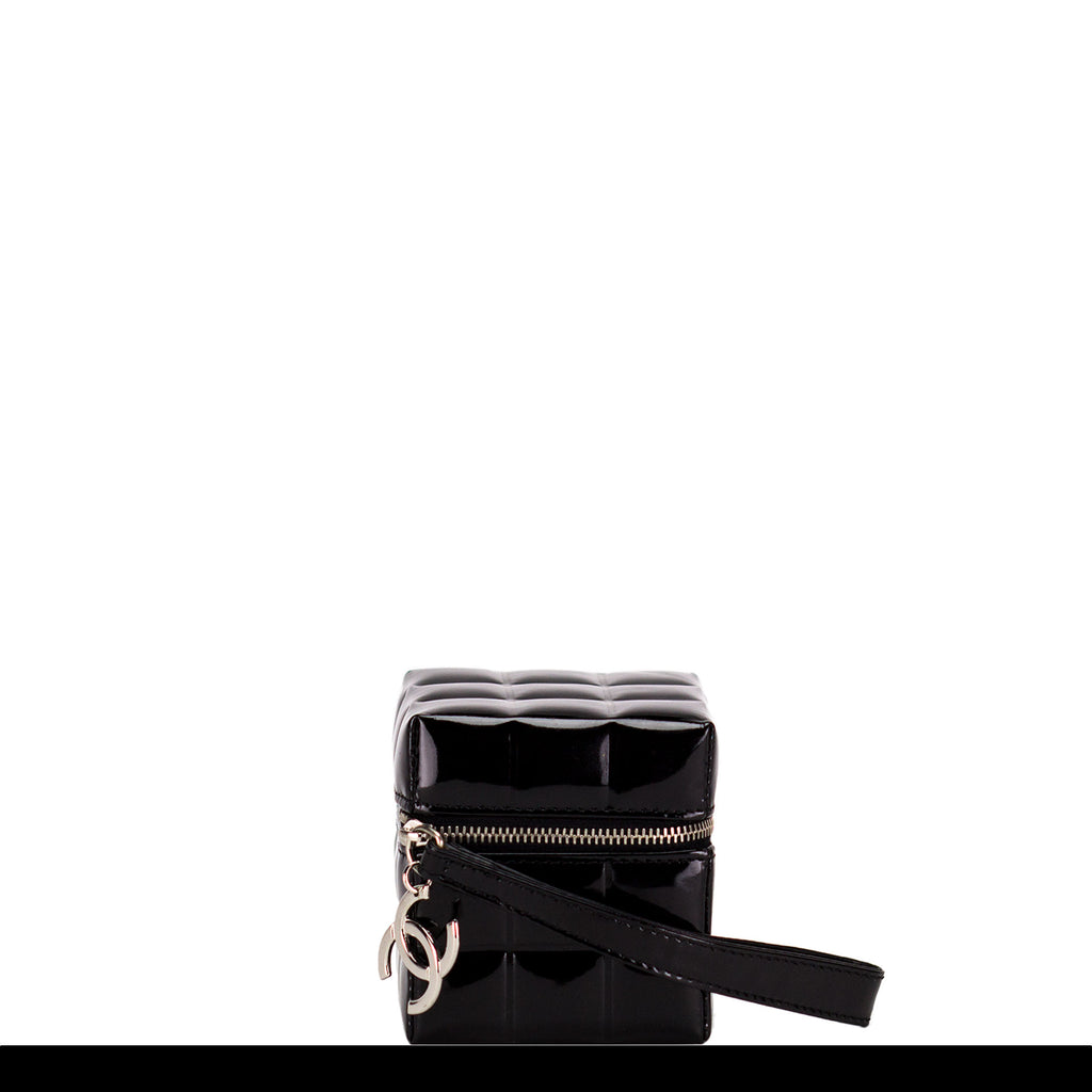 Chanel Casino Cubed Patent Dice Wrist Clutch