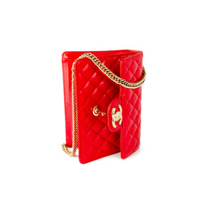 Chanel Rare Vintage Red Mini Patent Classic Flap