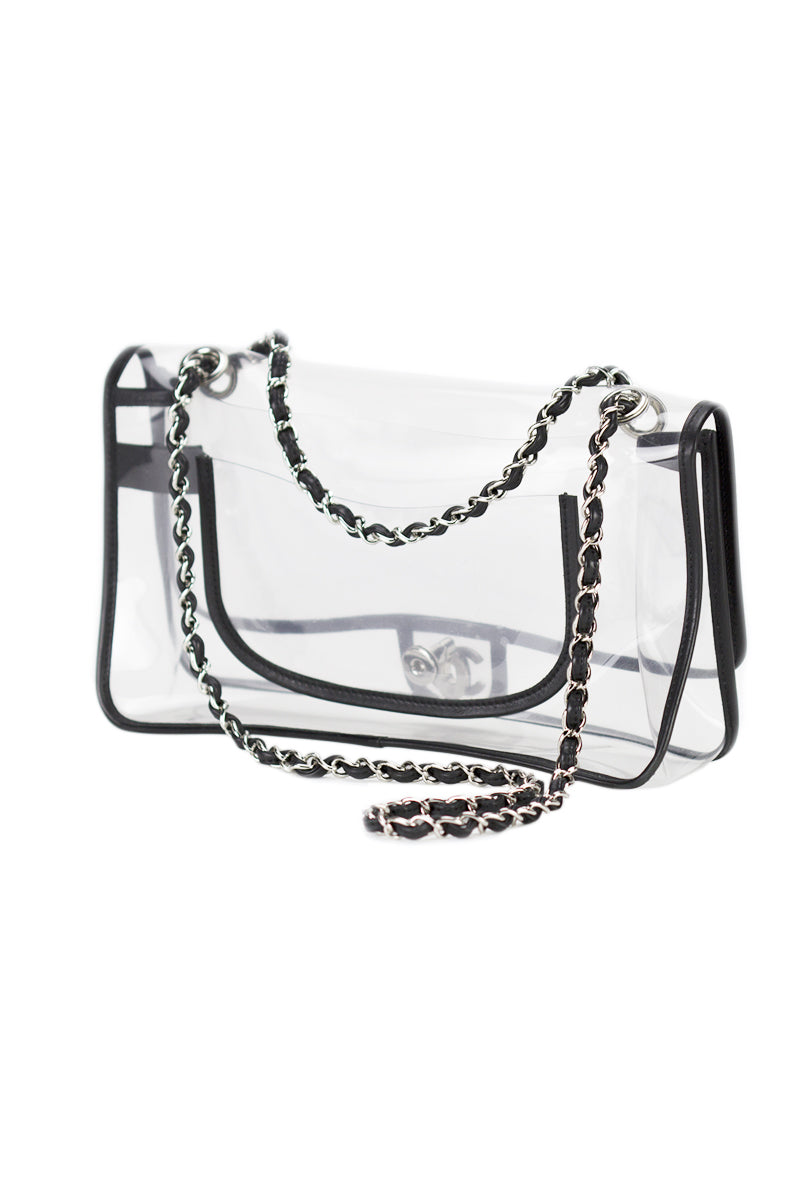 Chanel Transparent Naked Classic Vintage Flap