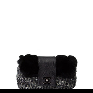 Chanel Fur and Tweed Exotic Flap