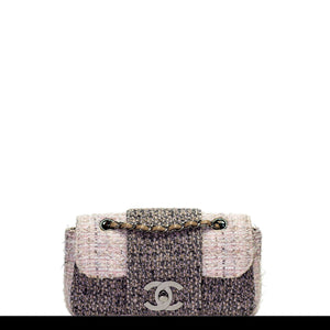 Chanel Small Rare Tweed Cream Classic Flap