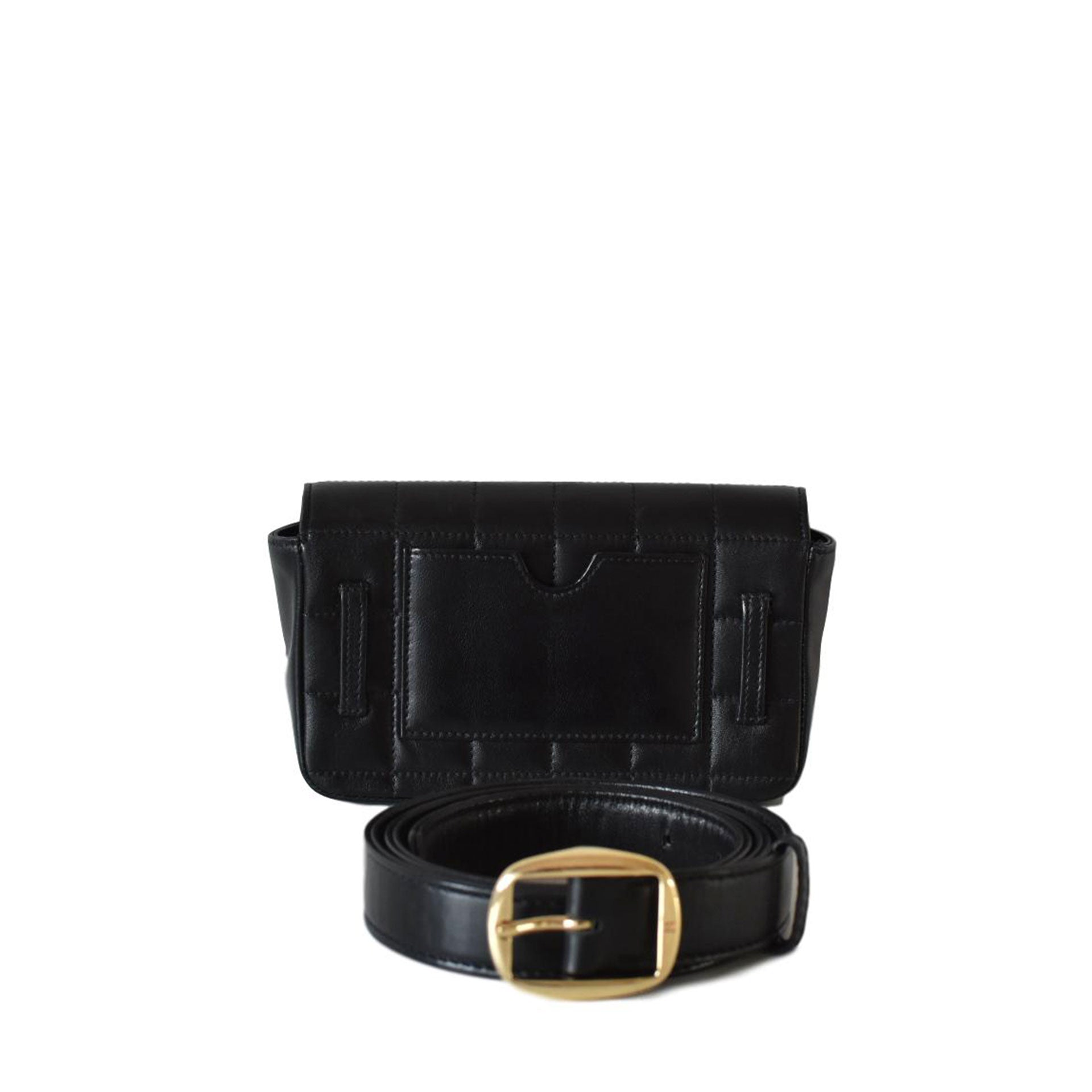 Chanel Vintage Square Quilted Fanny Pack Waist Bum Bag