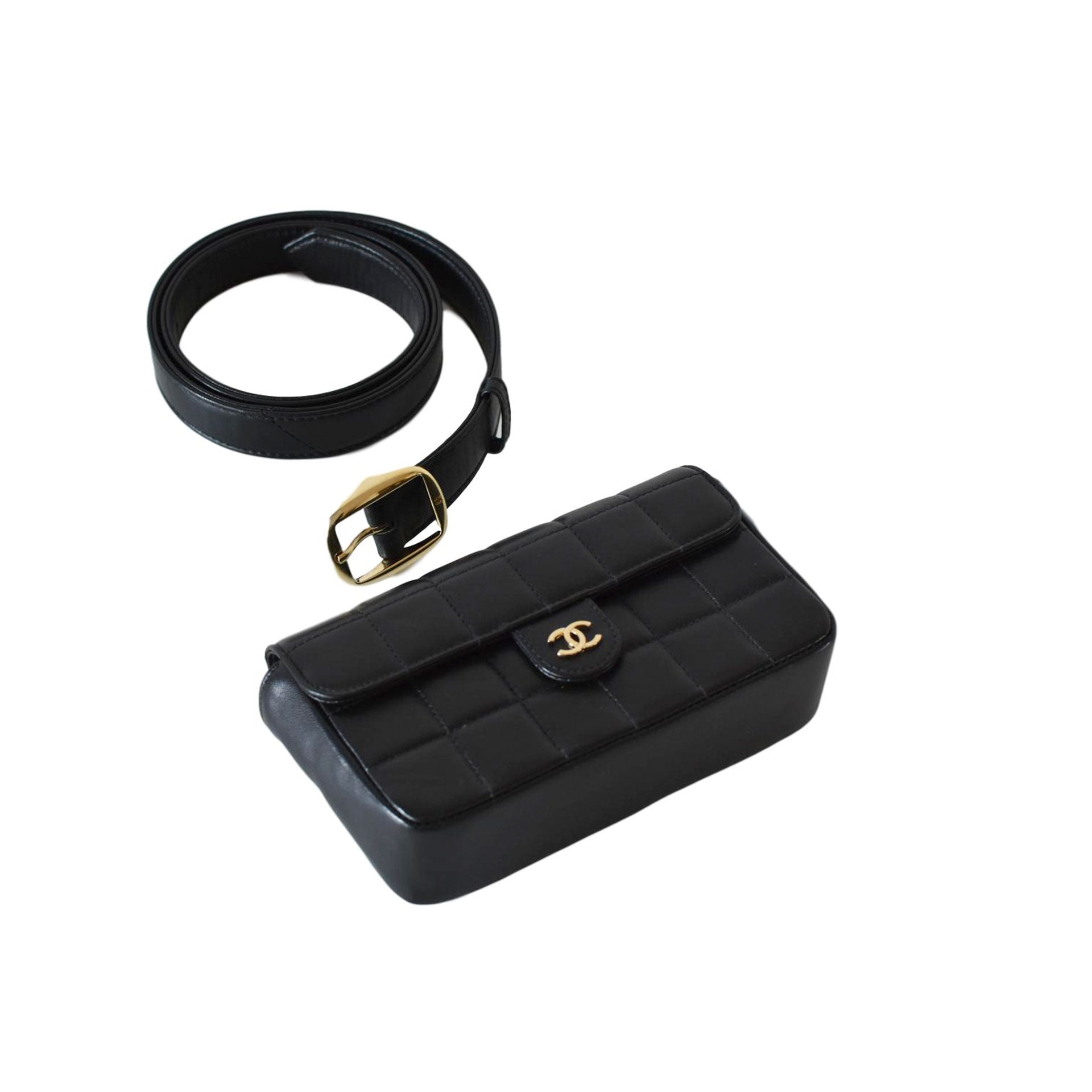 9c7979e184fd Chanel Vintage Square Quilted Fanny Pack Waist Bum Bag – House of Carver