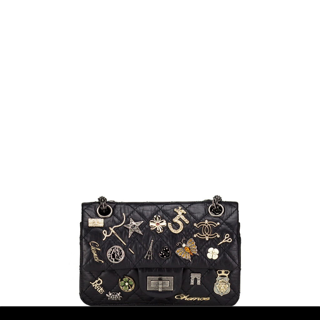 Chanel Mademoiselle Small Paris Charm Flap