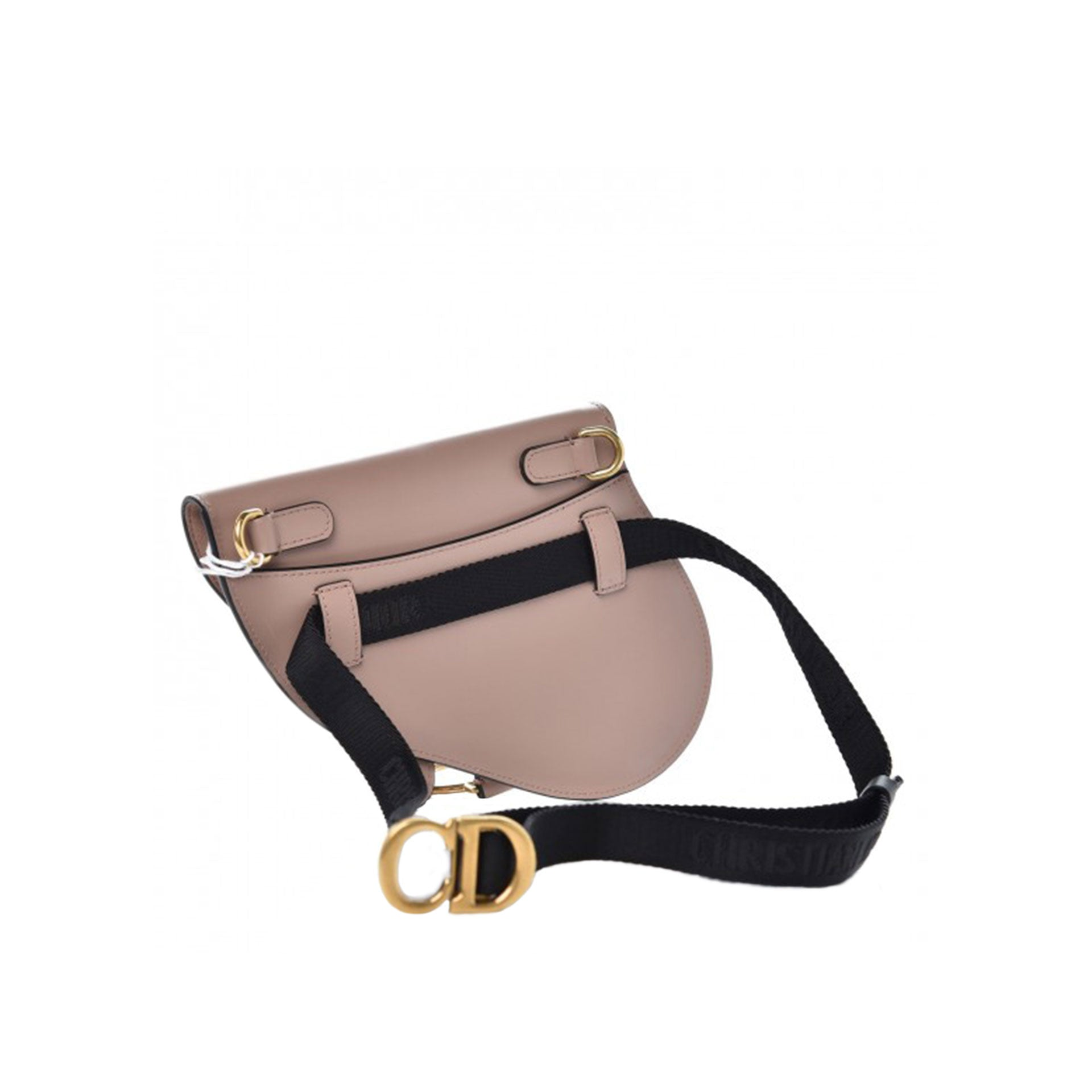 Christian Waist Belt Saddle Fanny Pack Limited Edition Blush Beige Pink Leather Cross Body Bag