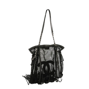 Chanel Large Fringe Crochet Resort Mesh Tote