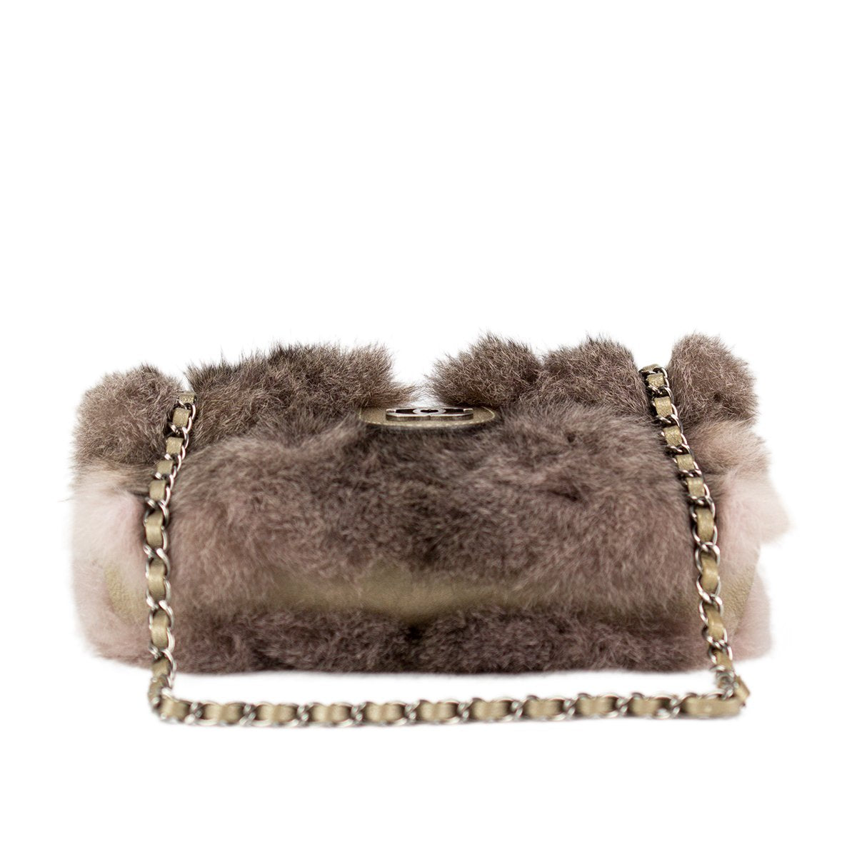 Chanel Large Brown Fur Crossbody Flap