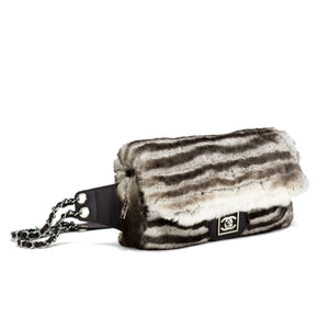 Chanel Rabbit Fur Waist Belt Flap
