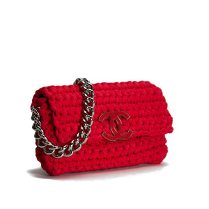 37b6d54a0ad3 Chanel Red Cruise Crochet Logo Flap Bag – House of Carver