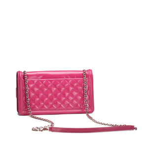 Chanel Lego Hot Pink Patent Brick Ombre Patent Flap