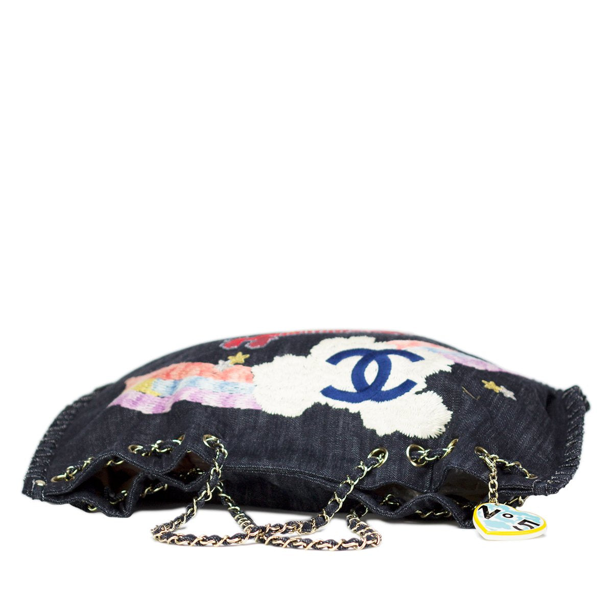 Chanel Rare Denim Airplane Mixed Media Tote