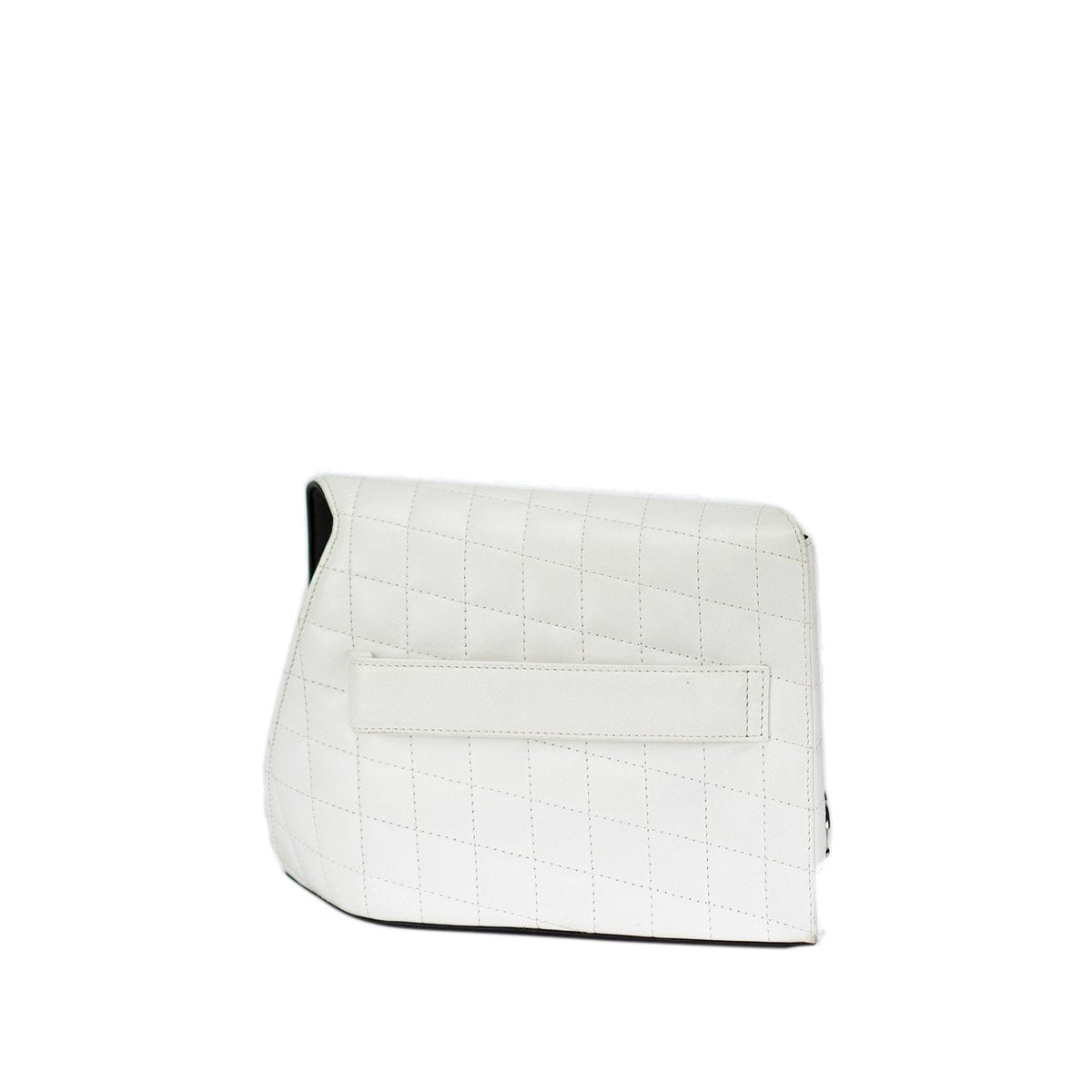 Chanel Mini White Lambskin Quilted Clutch