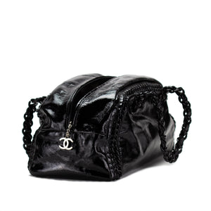 Chanel Patent Leather Resin XL Weekend Bowler Satchel