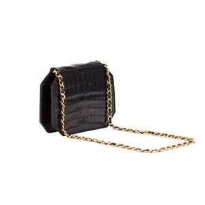 Chanel Vintage Crocodile Flap Clutch