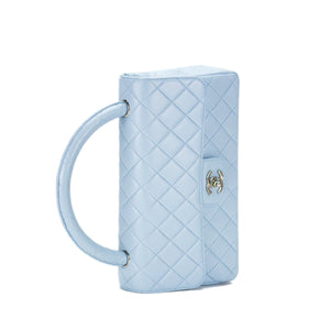 Chanel Light Blue Vintage Classic Flap Kelly Top Handle