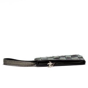Chanel Swarovski Lamb Clutch