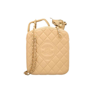Chanel Minaudière Cruise 2015 Paris Dubai Night Gas Tank Jerry Can Collector Gold