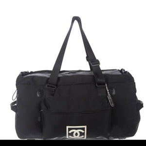 Chanel Cc Sport Line Black Duffle Bag