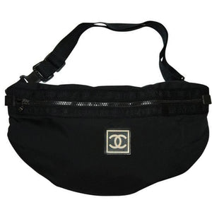 Chanel Waist XL Sport Black Nylon Fanny Pack