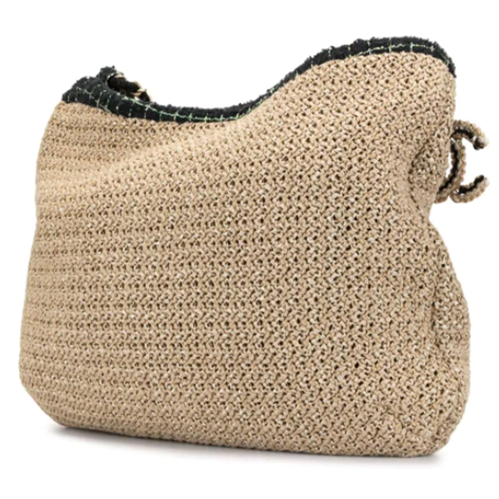 Chanel Organic Camelia Large Tweed Rope Tote