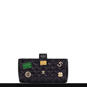 Chanel Quilted Lambskin Charm Crossbody Clutch