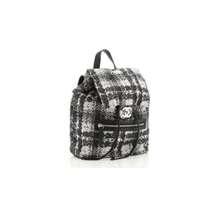 Chanel Zip Printed Medium Nylon Backpack