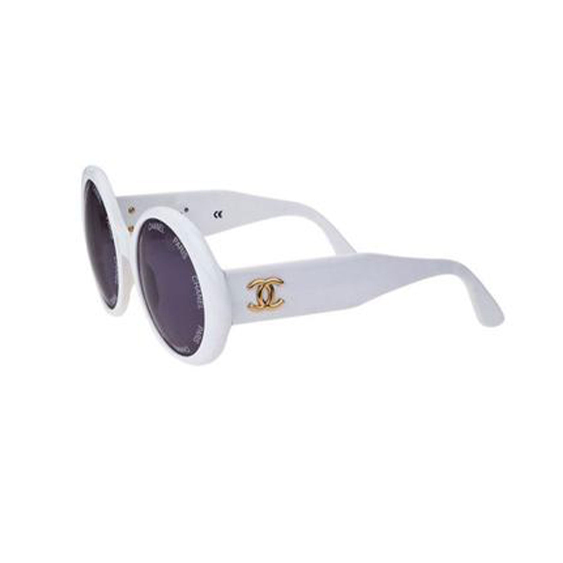 Chanel Rare 1993 Runway Vintage White Sunglasses