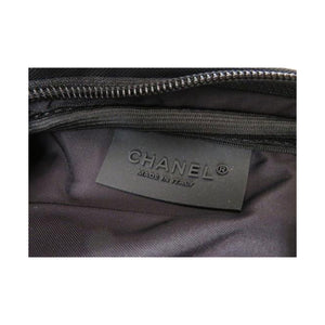 Chanel Canvas Tennis Racquet Cover Black Nylon Bag
