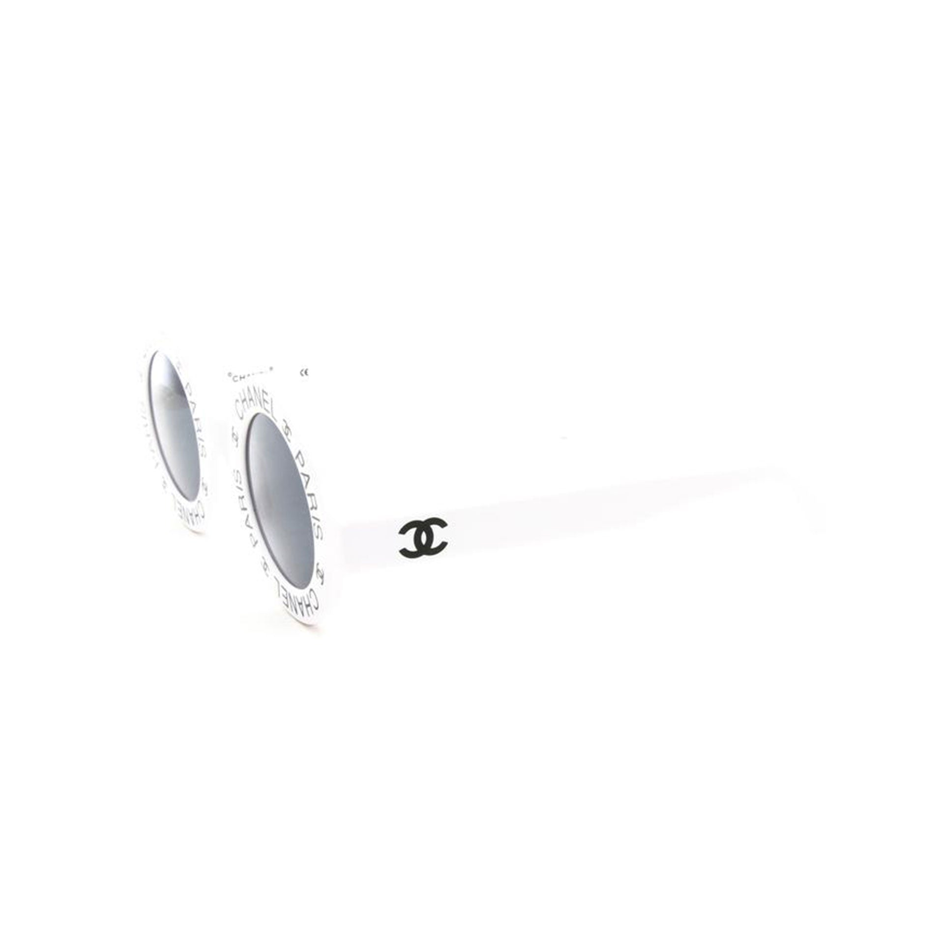 Chanel Rare White Vintage 90's CC Paris Sunglasses