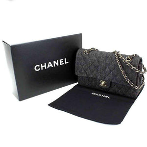 Chanel Classic Flap 2.55 Reissue Vintage Classic Quilted Rare Dark Denim Shoulder Bag