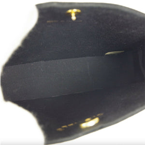 Chanel Black Velvet Vintage 80's Micro Mini Top Handle Minaudière Clutch