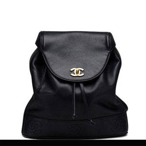 Chanel Dark Navy Blue Caviar Backpack