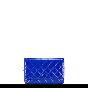 Chanel New Wallet on Chain Royal Woc Blue Patent Leather Cross Body Classic Flap Bag