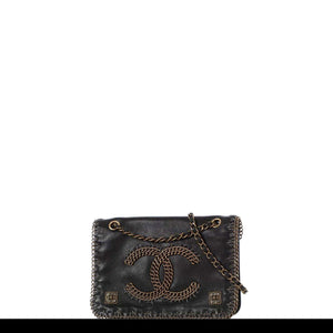Chanel Classic Shoulder Pre-Fall 2011 Paris-Byzance Metiers d'Art Collection Chain Flap Black Calfskin Leather Cross Body Bag