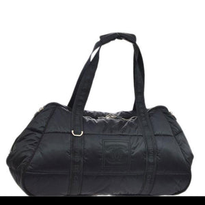 Chanel Timeless Coco Sports Black Microfiber Tote