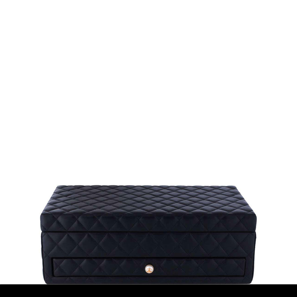 Chanel Limited Edition Black Vanity Case Rare Home Decor Jewelry Box