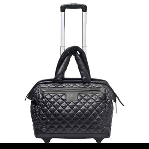 Chanel Cocoon Coco Quilted Rolling Luggage