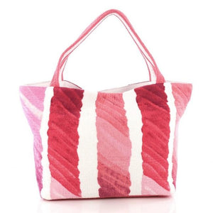 Chanel Cc Beach Medium Pink Terry Cloth Tote